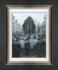 the ship that dad built - canvas  - framed