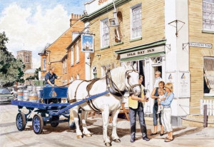 The Sole Bay Inn, Southwold - Sam, The Adnams Dray Horse - Print