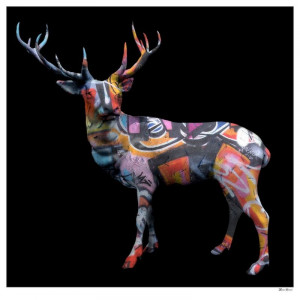 The Stag Do - Small - Black - Mounted