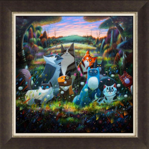 The Woodland Adventures of Lord Peregrine and Lady Bobbles & Co - Brown - Framed
