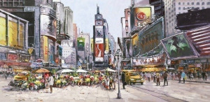 Times Square In Bloom - Box Canvas