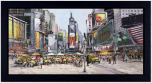 Times Square In Bloom - Framed - Framed Box Canvas