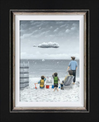 Trouble On The Horizon - Canvas  - Framed
