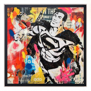 Truth, Justice And The American Way - Canvas - Black - Framed