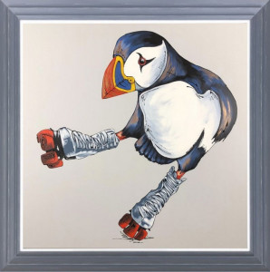 Two Left Feet - Original - Dark Grey - Framed