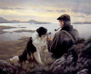 unspoken words - border collie - mounted