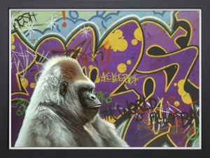 Urban Gorilla - Super Deluxe - Black Framed - Framed Box Canvas