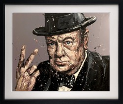 V Is For Victory (Sir Winston Churchill) - Framed