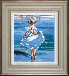 walking the shallows  - framed