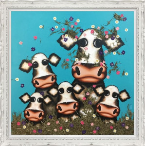 was it you little moo - deluxe  - framed