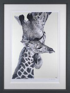 Watching Over You - Artist Proof Grey - Framed