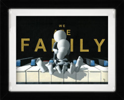 We Are Family - 3D High Gloss - Framed