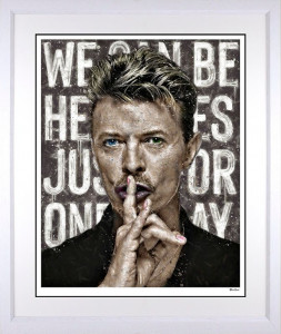 We Can Be Heroes - White - Framed