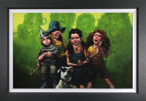 We're Off To See The Wizard (Wizard of Oz) - Canvas  - Framed