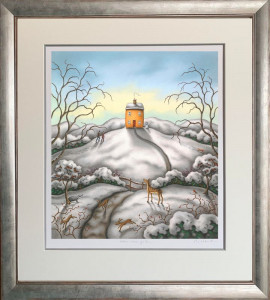 When Snow Falls, Nature Listens - On Paper  - Framed