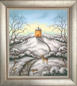 When Snow Falls, Nature Listens - On Canvas  - Framed