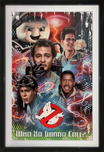 Who Ya Gonna Call? - Original - Black - Framed