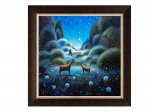 Wish Upon A Star - Brown - Framed