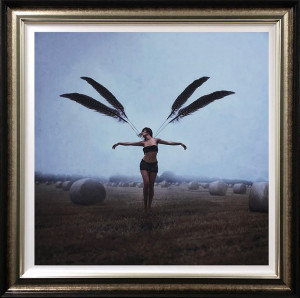 with brave wings she flies - deluxe special edition - framed
