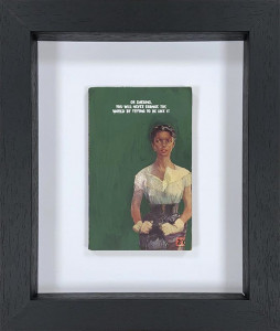 You Will Never Change The World - Original Book Cover - Black - Framed
