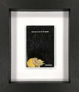 Your Love Is Out Of This World - Original Book Cover - Black - Framed