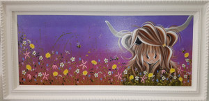 moo on a summers evening - original - framed
