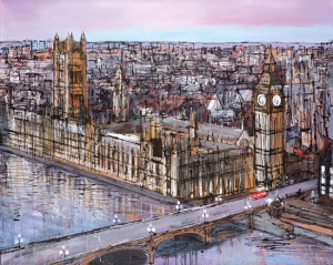 Late Afternoon Westminster - Box Canvas