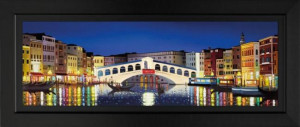 venetian reflections - framed