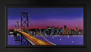 the bay bridge - framed