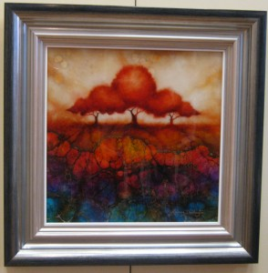 Radiant Dawn - Summer Trees Series - Framed
