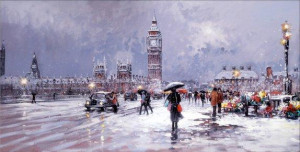 westminster in winter - board only