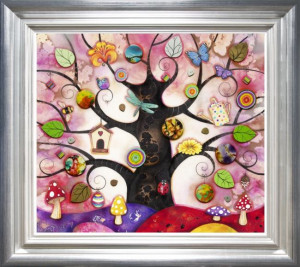 Pink Tree Of Charms - Framed