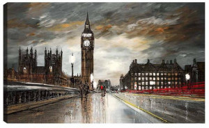on westminster bridge - box canvas
