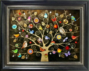 tree of life - gold extra large - framed