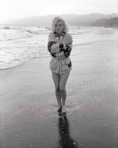 lost in thought, santa monica beach, 1962 - mounted