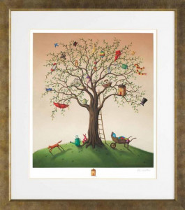 the tree of life - remarqued edition  - framed