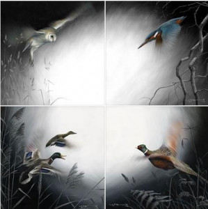 in flight - set of 4 - canvas with slip