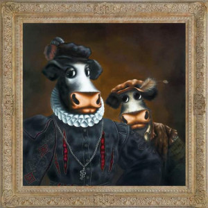black udder and bulldrick - framed