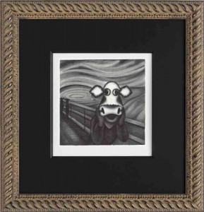 Study Of The Moo - Framed