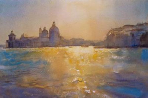 venice sunlight on water - print