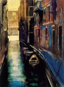 canal venice - mounted