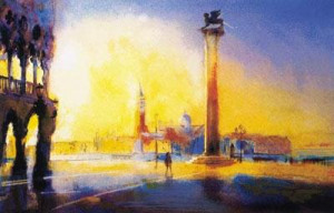 venice at dawn - mounted