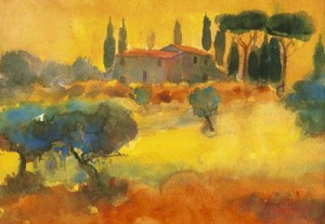 evening, tuscany - print only