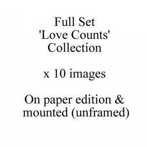 Love Counts - Full Set Of 10 Paper Editions - Mounted
