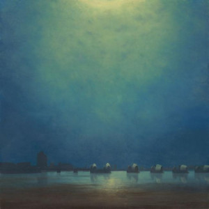 moonlight,thames barrier - with slip