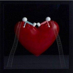 high on love (objet d'art) - framed