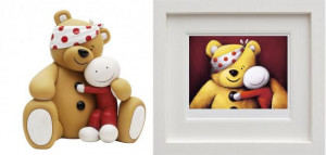 Pudsey Set - Sculpture & Print (Framed)