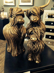 The McMoo Family - Set Of 3 - Bronze