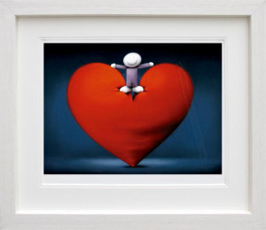 lots of love  - framed
