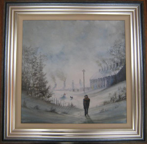 Its Starting to Snow Again - Framed